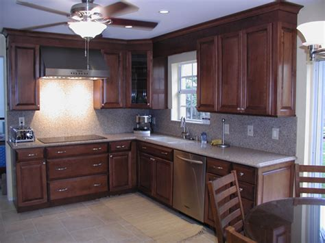 brown kitchen cabinets indelink