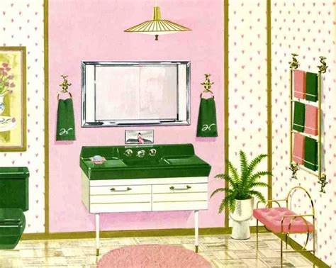pink and green bathroom six mid century bathrooms vintage 1962 retro renovation