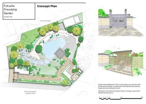 design concept nz landscaping begins on fukuoka friendship garden ourauckland