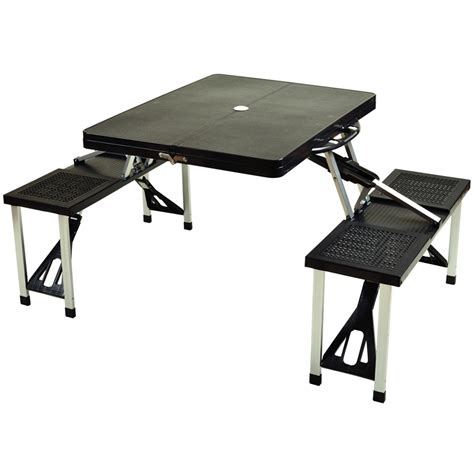 foldable plastic aluminum picnic tables with seats