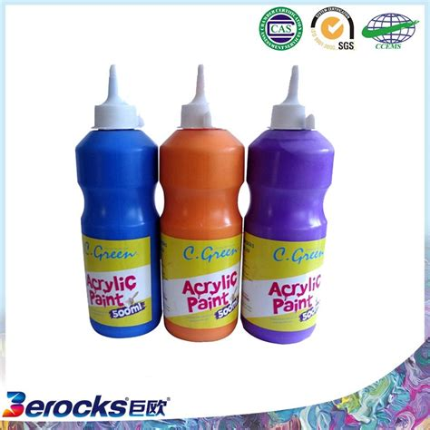 acrylic paint for plastic high durability excellent quality plastic bottle acrylic