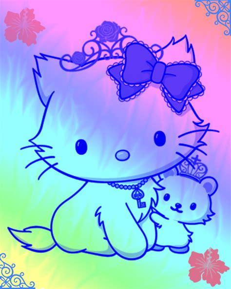 wallpaper hello kitty rainbow hello kitty rainbow by victorian angel on deviantart