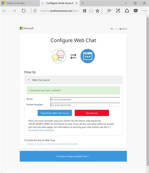 tutorial website chat just 5 steps tutorial smile score bot by microsoft bot