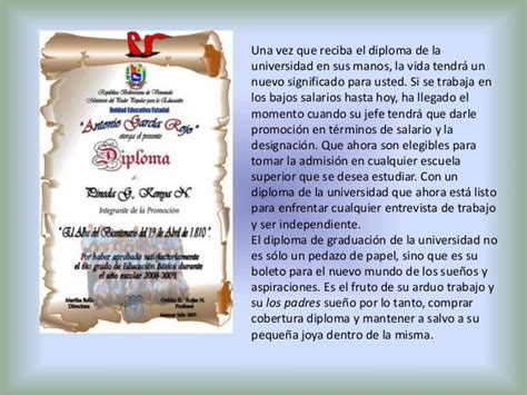 dedicatoria para promocion de 5to ao presentacion graduacion
