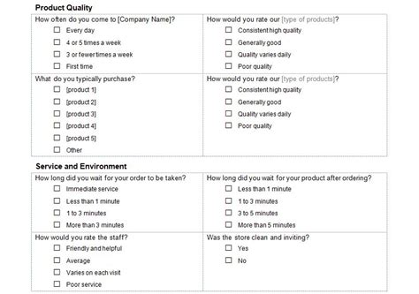 Customer Service Survey Customer Service Survey Questions Company Survey Template