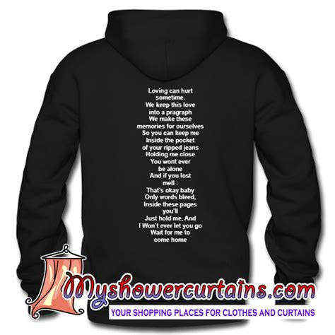 Hoodie Alan Walker With Back Print Zc loving can hurt sometime quote hoodie back