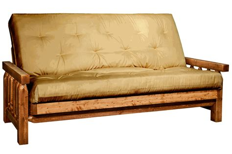 pine log furniture stained lacquered homestead futon