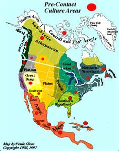 Native American Map Of North America by Maps Of North America