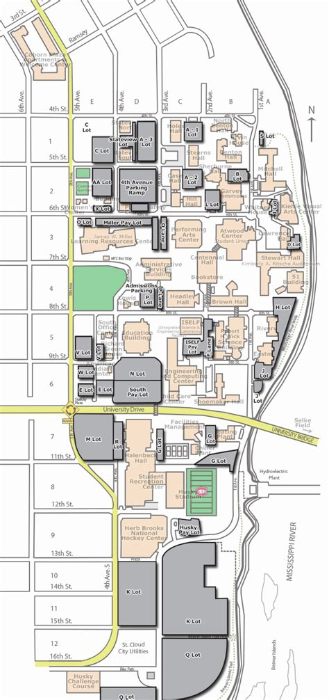 Scsu Mba Program by Cus Map Parking St Cloud State