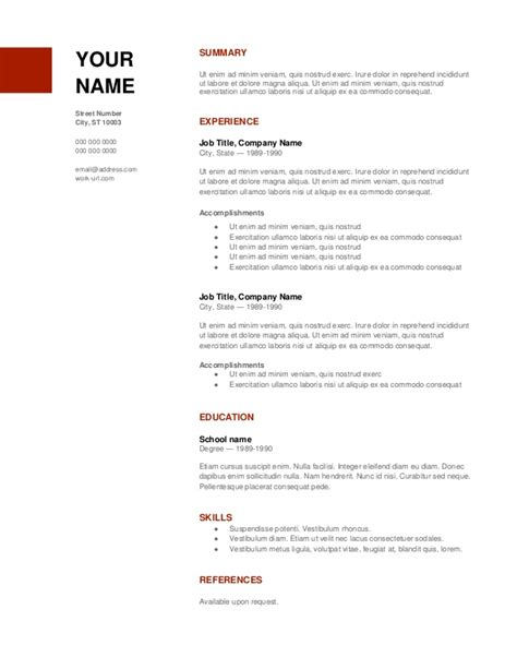 Copy Of A Resume by Copy Of Resume Standard