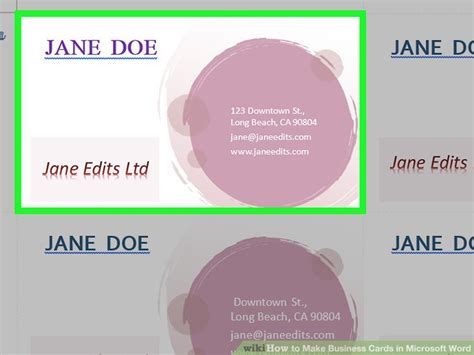 How To Make Business Cards On Microsoft Word