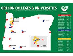 map of colleges in poster oregon colleges map oregon gear up oregon