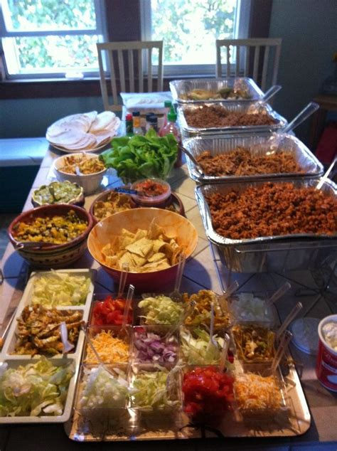 Pinning My Own Taco Party Because It Was So Good Fried Taco Buffet Ideas