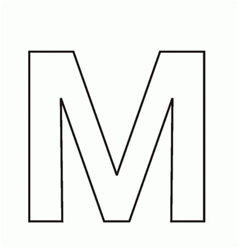 Alphabet M Coloring Pages by Free Alphabet Coloring Pages Printable Letter M Stock