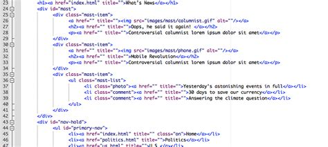 Contoh Coding Html Web Contoh Kr Web Page Templates With Html Code