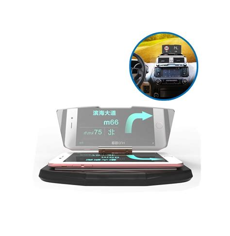 qi charger heat car hud qi wireless charger up navigation display