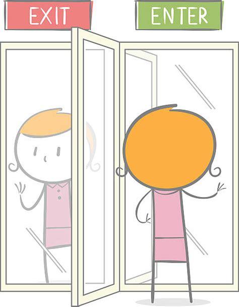 Revolving Door by Revolving Door Clip Vector Images Illustrations Istock