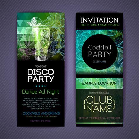 birthday invitation card design vector free download free download disco party invitation orderecigsjuice info