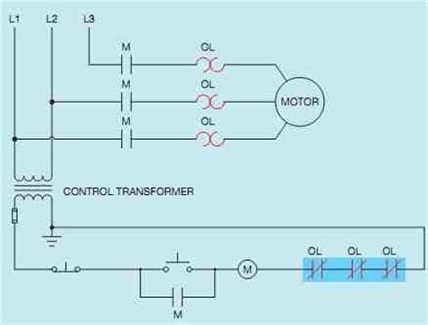 three phase wiring diagram motor thermal relay
