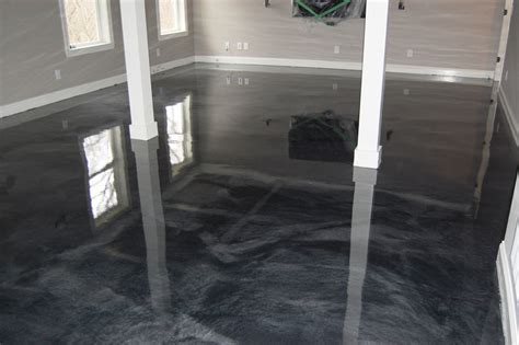 Basement Man Cave ? Metallic Epoxy Floor in Clayton