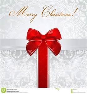holiday christmas birthday card gift box bow stock