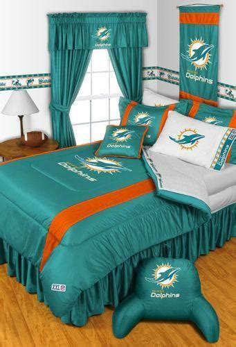 miami dolphins nfl twin chenille embroidered comforter set with 2 shams 64 x 86 dolphin bedding ebay