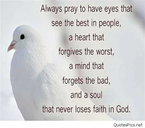 always pray to have eyes that see the best in people