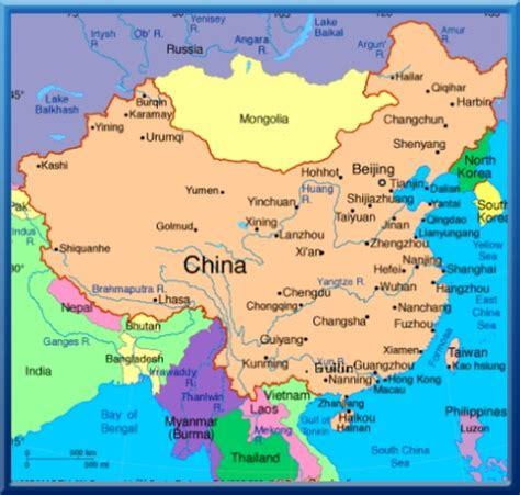 map of china and surrounding countries map nepal neighbouring countries