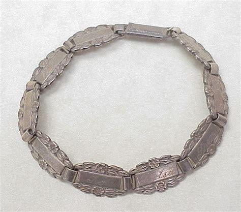 sweetheart forget me not bracelet 1943 sterling silver