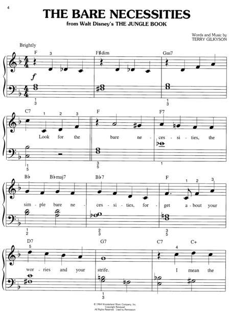 free printable sheet music the piano student disney big note collection easy piano sheet music by