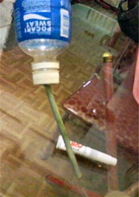 Membuat Botol Minum Hamster kelinci wong kito buat sendiri tempat minum kelinci versi 1