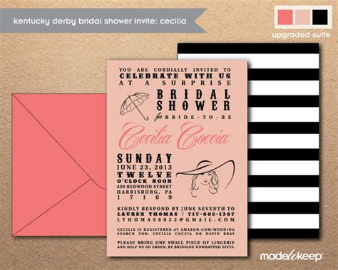 Kentucky Derby Bridal Shower Invitations by Ws301 Kentucky Derby Bridal Shower Birthday Bachelorette