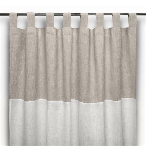 tende lino tenda a bastone in lino ajour bicolore cuore di lino