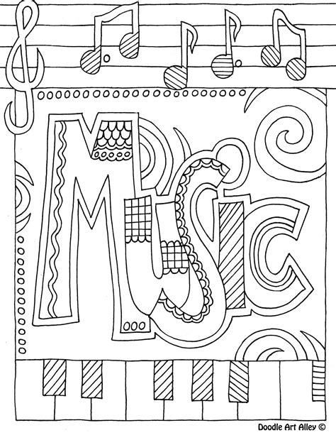music printable coloring pages