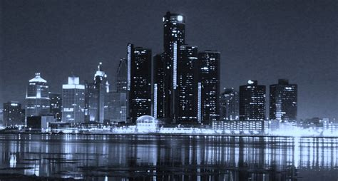 cityscape wallpaper in black and white by lutece detroit skyline wallpapers wallpaper cave
