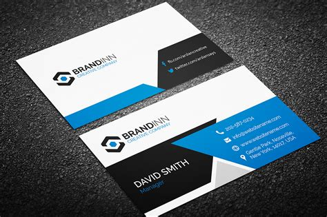 Custom Card Template by Creative Business Card 14 Graphic