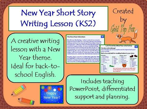 new year writing ks2 new year 2018 story writing lesson ks2