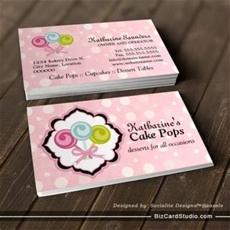 cake pop business card template cake pops bakery business cards