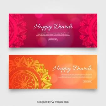 banner design deepavali infographic banners collection vector free download