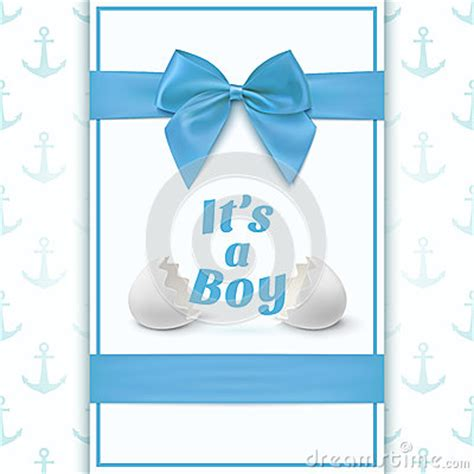 it s a card template its a boy template for baby shower stock vector image