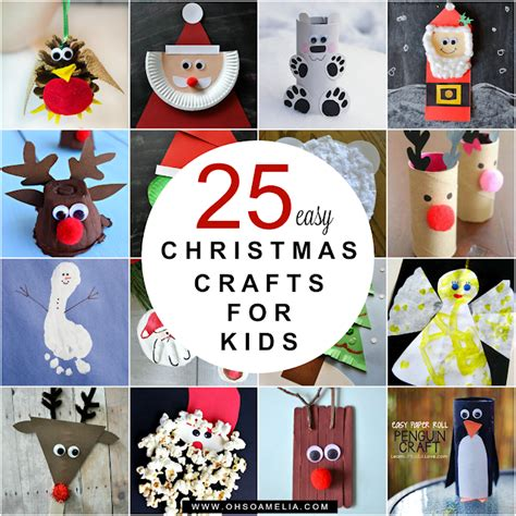 easy christmas crafts  kids   amelia bloglovin