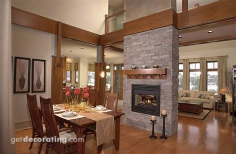 fireplace between dining and living room ideas for our