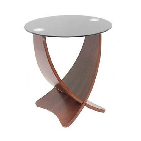 unusual accent tables unique end table criss cross round glass top bent wood