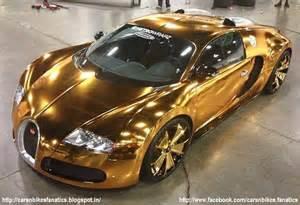 Gold Plated Bugatti Car Bike Fanatics Gold Plated Bugatti Veyron