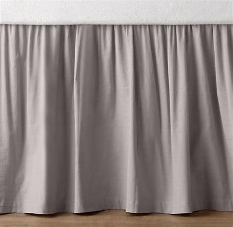 european vintage washed percale crib skirt
