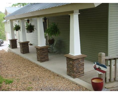 columns for homes stone columns on a older style brick homes porch