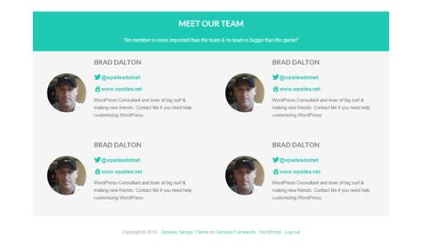Members Page Template team members staff authors or user profile page template