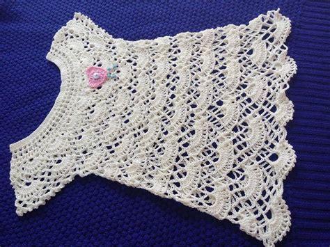 blusa en crochet ganchillo de abanicos parte 1 batita para ni 241 a de 2 a 3 a 241 os puntada de abanicos parte 1