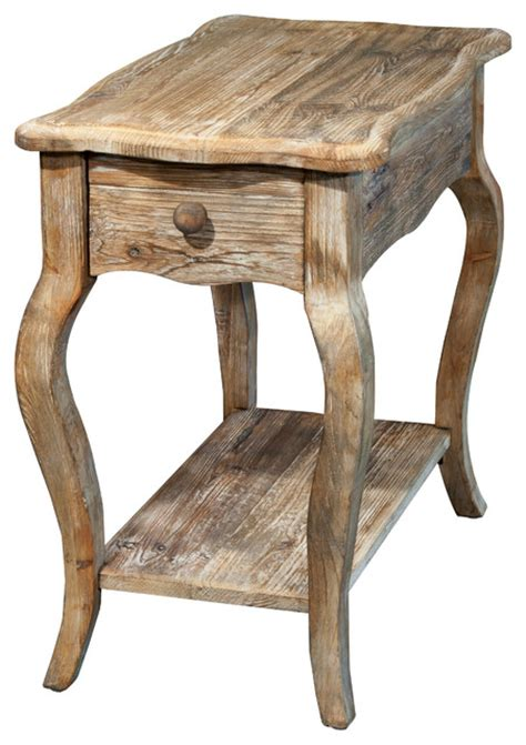 Farmhouse Side Table Rustic Reclaimed Chairside Table Driftwood Farmhouse Side Tables And End Tables By Bolton