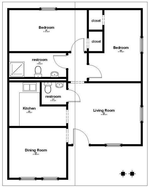 housing floor plans free affordable housing floor plan 858 sq ft house